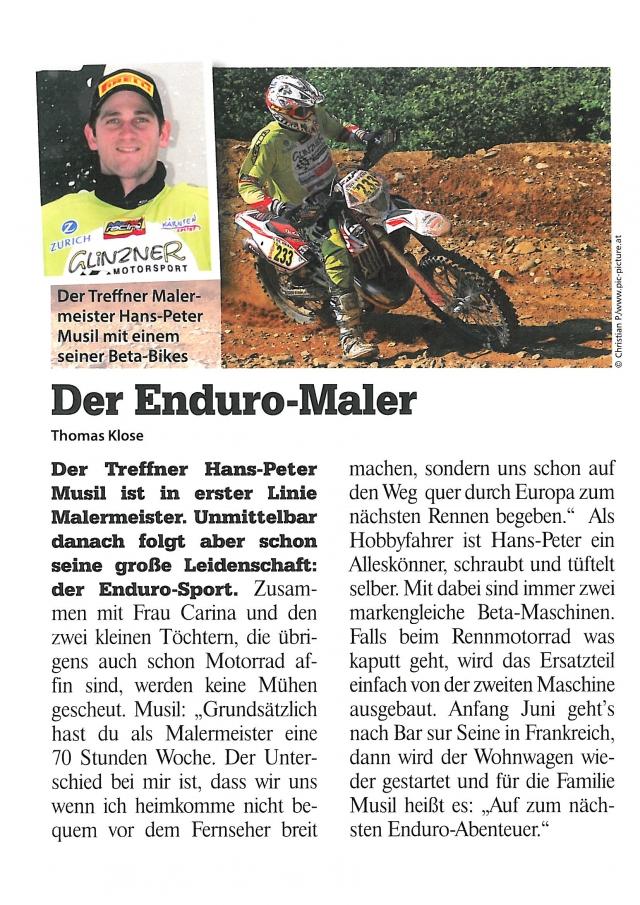 Bericht im Draustaedter 22.05.
